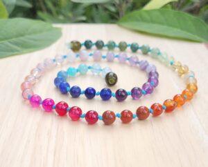 Full Gemstone Teen/Adults Rainbow 50cm Necklace