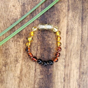 Rainbow Baltic Amber Baby/Toddler Anklet