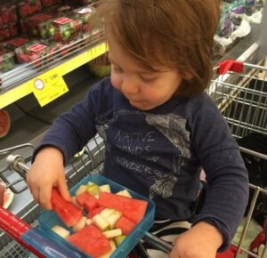 OnTray ~ Trolley Snack Tray For Toddlers