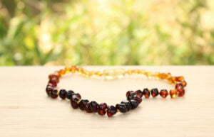 Drew Drop Baltic Amber 33cm Baby/Toddler Necklace