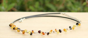 Baltic Amber & Sterling Silver Adults Necklace