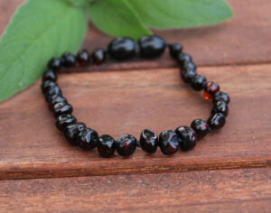 Cherry Baltic Amber 14cm Baby/Toddler Anklet