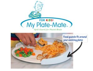 My Plate-Mate. A Spill Proof Guard For Plated Meals (PINK)